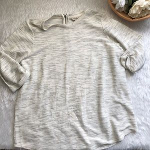 Lucky Brand Ribbed 3/4 Top